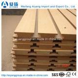 Fabricant chinois AAA Grade E1 MDF à fente / MDF à mélamine avec 7 ou 11 rainures pour magasin