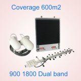 Impulsionador do sinal da DCS da G/M com o repetidor do sinal 900/1800MHz para o impulsionador móvel Telecom 3G do sinal