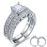 Monili dell'argento sterlina degli anelli di cerimonia nuziale 925 per le donne