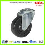rodízio industrial fixo da borracha dura da placa de 100mm (D102-53B100X32)