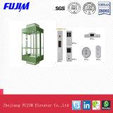 Fixer hautement l'ascenseur guidé de verre feuilleté de sûreté avec la fonction de rayonnement