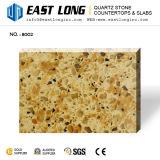 Lajes artificiais da pedra de quartzo da cor do granito para partes superiores da vaidade com superfície contínua