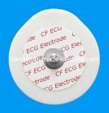 Elettrodo monouso di video di ECG, protezione della gomma piuma del PE, 43*45mm