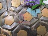 Mosaico de forma hexagonal de cobre para decoração de parede (CFM1025)