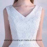 Сладостный Bridesmaid шнурка одевает мантии партии V-Шеи безрукавный