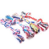 El algodón del perrito del perro de animal doméstico tejido el juguete del juego del entrenamiento del tirón del Chew de la cuerda del hueso del nudo