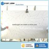 Controsoffitti di superficie solidi del quarzo di colore di marmo bianco