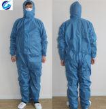 Spunbond blauer nichtgewebter Overall/Wegwerfgesamtes verwendet für Industrie