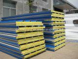 El panel de emparedado de alta densidad de las lanas de roca para Wall&Roof