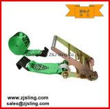 "cinta lisa 4 "" verde da catraca de 4 "" ganchos de X 27 '"