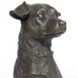 Dierlijk Beeldhouwwerk tpy-654 van het Brons van de Hond van het Standbeeld van het Messing van Deco van het Huis Met de hand gemaakt