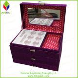 Delicated 전시 자주색 패킹 선물 아름다움 화장품 상자