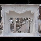 Camino bianco Mfp-1197 di Carrara del camino di pietra di marmo del granito