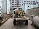 بناية خرسانة [بريك ولّ] يجصّص أداء مادّة جصّ الإنسان الآليّ آلة