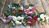 인공적인 작약 꽃 결혼식 훈장