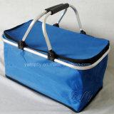 도매 Foldable 휴대용 냉각기 바구니 픽크닉 바구니 쇼핑 바구니