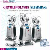 Máquina de congelación gorda de Zeltiq Cryolipolysis de cuatro manetas Cryolipolysis que adelgaza la máquina Sculpting de la carrocería fresca para la reducción gorda