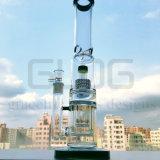 Gldg 17 pollici - tubo di acqua di vetro di Perc della doppia tabella alta del favo
