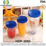 Оптовые 24oz BPA освобождают пластичную бутылку сока, подгонянный пластичный Tumbler с крышкой и сторновку (HDP-3063)