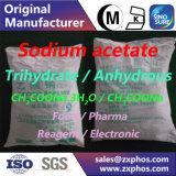 Acetato de sódio de qualidade alimentar Trihydrate CH3coona. 3H2O