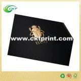 Schwarzes kundenspezifisches farbenreiches Kissen-Kasten-Drucken mit dem Goldfolien-Stempeln (CKT-CB-436)