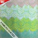 美しく多彩な綿のナイロンレースファブリック