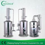 Destilador doble eléctrico del agua de Distillerd del acero inoxidable de la serie de DZ