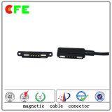 Conetor de cabo 4pin magnético para o detetor de gás portátil