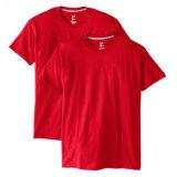 Camisetas básicas del algodón de los hombres atléticos de la camiseta de encargo en existencias