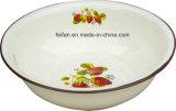 Тазик тарелки тазика мытья эмали конструкции декора плодоовощ