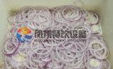 Anéis de cebola automáticos comerciais que cortam a máquina de processamento da estaca, Slicer dos anéis de cebola