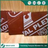 madeira compensada marinha laminada Poplar da colagem de 12mm/15mm/18mm/21mm WBP para o uso concreto