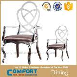 호화스러운 디자인 식탁 및 의자는 판매를 위해 놓았다