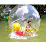 Bola de balanceo inflable del agua/bola/caminata del hámster del agua en bola del plástico del agua