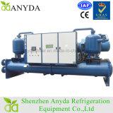 Tipo inundado compresor doble refrigerador del tornillo de 400 toneladas de agua refrigerado por agua del evaporador aire acondicionado