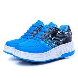 نمو [بو] جلد بكرة يبيطر أحذية مع عجلات قابل للانكماش لأنّ أطفال, فتى عجلات [رولّر سكت] حذاء رياضة رياضة من الصين