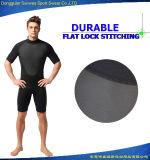 내오프렌 남자 짧은 소매 방수 UV 급강하 Surfingsuit를 보호한다