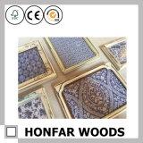Blocco per grafici nero quadrato della foto della maschera di legno solido per la decorazione della parete