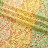 Tela química quente do laço do bordado para o vestido