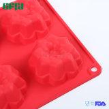 Il fiore flessibile dello strato della torta del silicone del commestibile del fornitore della fabbrica ha modellato