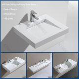 Le mur extérieur solide en pierre acrylique moderne a arrêté le lavabo