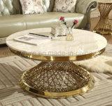 Mesa de centro do aço inoxidável da cor do ouro de Rosa