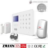 Het geuite LCD GSM Systeem van het Alarm van de Indringer van het Huis