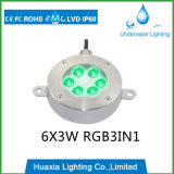 6With18W RGB 3in1 LED Brunnen-Licht mit 2 Jahren Garantie-