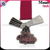 鋳造物亜鉛合金の金属の昇華させたリボンが付いているカスタム金の星メダルを停止しなさい