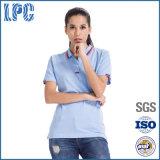 Camicia di polo barrata manicotto su ordinazione di modo di disegno di colore di Short di estate