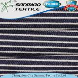 Changzhou hilados de distintos colores a rayas Spandex de sarga de algodón poliéster Denim