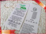 Marca de ropa impreso principal etiqueta impresa satén