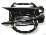 Handtasche der Form-Entwurfs-Dame-Black Bag Patent PU Leather