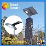 Luz solar integrada del jardín del parque del sensor de microonda con la batería de litio